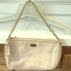 Coach ivory bag gold accents
